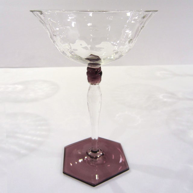Amethyst & Clear Textured Cocktail Glasses - S/6 - Image 6 of 11