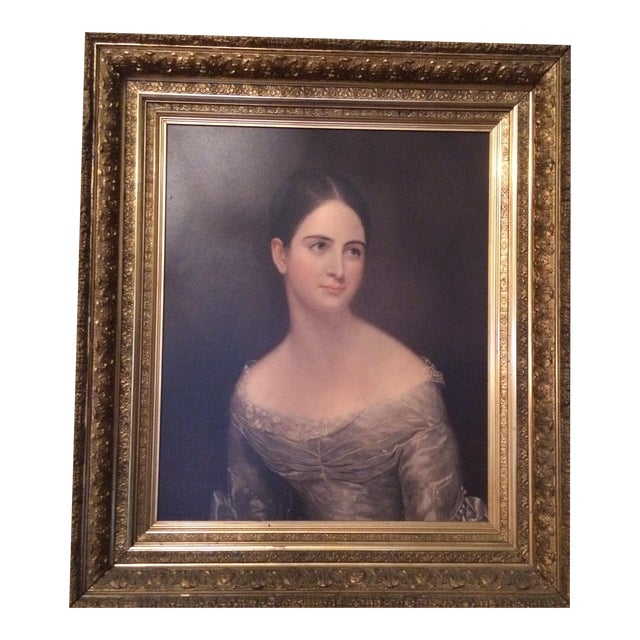This 19th century American Women period piece is a print of the original Thomas Sully (1783 - 1872). Sully was born in...