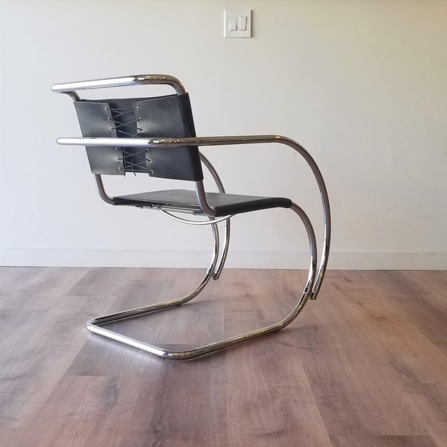 Ludwig Mies van der Rohe Ludwig Mies Van Der Rhoe 1970s Mr 20 Chair - Attributed For Sale - Image 4 of 13
