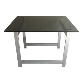 Chrome & Smoked Glass Side Table
