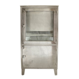 Vintage Stainless Steel Medicine Cabinet For Sale