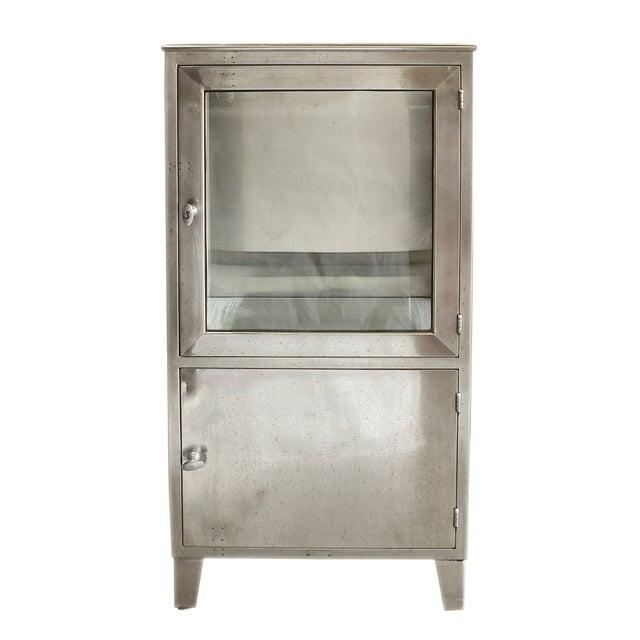 Vintage Stainless Steel Medicine Cabinet For Sale