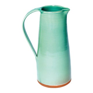 Handmade Large Pitcher from New York Stoneware For Sale
