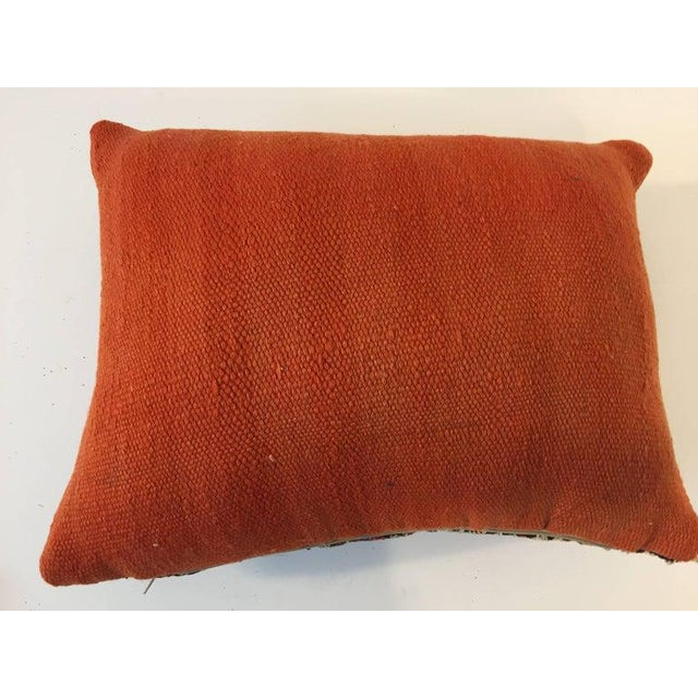 Textile Handwoven Moroccan Tribal Berber Throw Pillow For Sale - Image 7 of 10