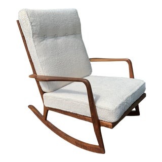 Rare Mid Century Sculptural Rocking Chair by Mel Smilow For Sale