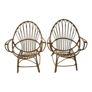Franco Albini Attributed Bamboo Chairs - a Pair For Sale
