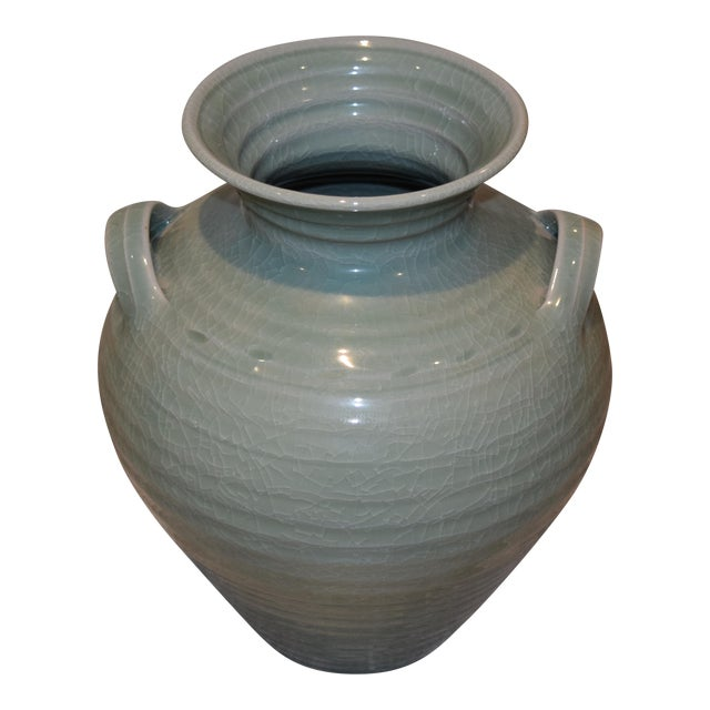 Simon Pearce Belmont Crackle Celadon Vase Chairish