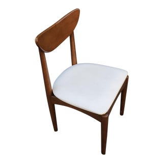 1960s Mid Century Modern Single Walnut Dining Chair For Sale