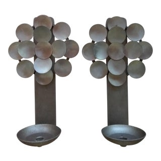 Swedish Candle Wall Sconces - a Pair For Sale