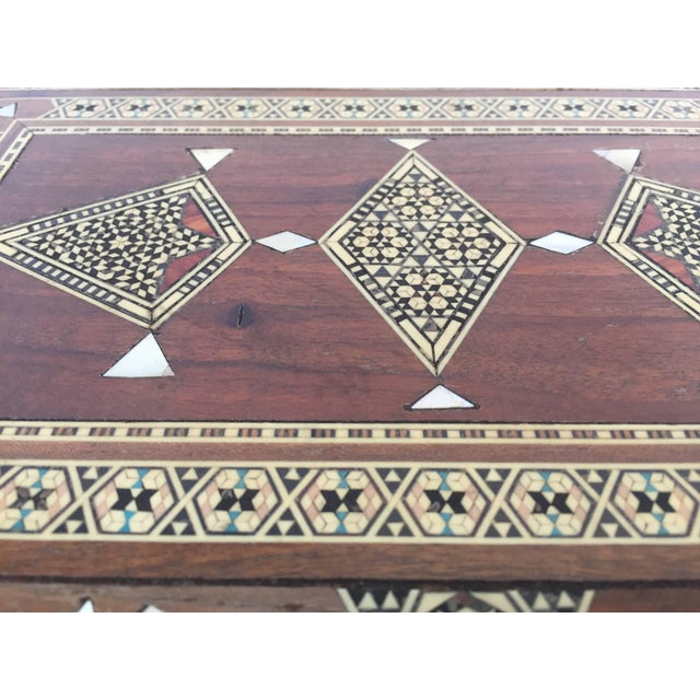 Large Islamic Syrian Wooden Micro Mosaic Box For Sale - Image 9 of 13