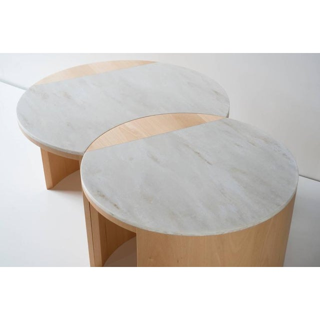 Contemporary Gibbous Coffee Table in European Beech With Witch Hazel Corian. For Sale - Image 4 of 8