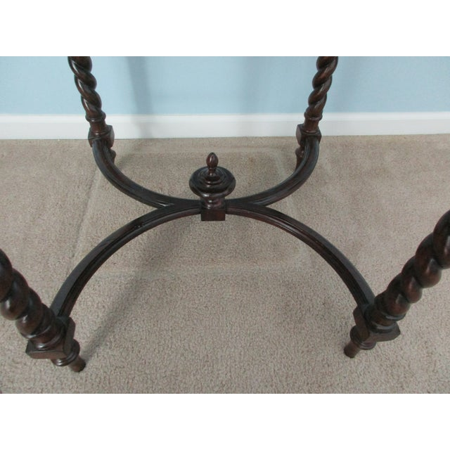 Maitland Smith Barley Twist Side or Console Table For Sale - Image 10 of 13