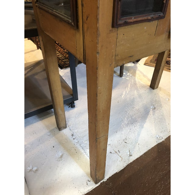 Rare Primitive Pie Safe With Original Paint and Hardware Circa 1900 For Sale - Image 10 of 13