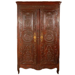 Antique Louis XV Armoire For Sale