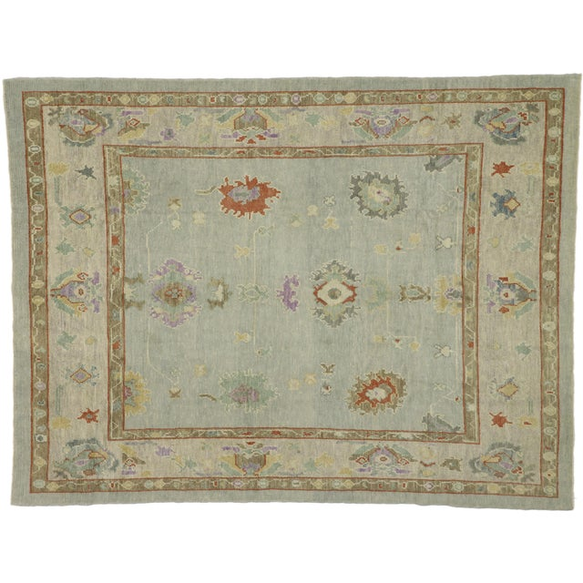 """Contemporary Turkish Oushak Rug - 8'00"""" X 10'04"""" For Sale - Image 9 of 9"""