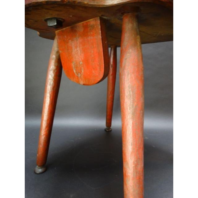 Monterey Classic Red Keyhole Chair - Image 7 of 8