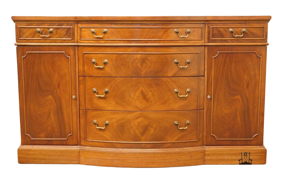 Ordinaire 1940u0027s Antique Duncan Phyfe Bow Front Buffet / Sideboard