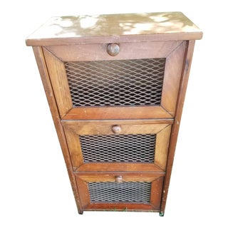 Pantry Cabinet With Grille Doors Pie Safe For Sale