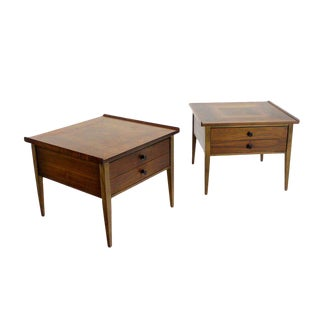 Mid-Century Modern Danish Walnut End Tables- a Pair For Sale