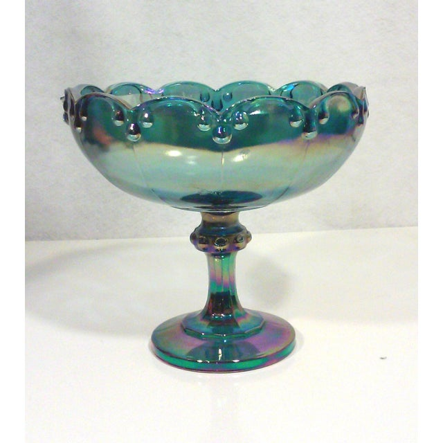 Peacock Lustre Glass Compote - Image 3 of 4