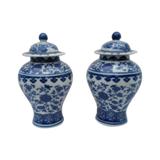 Orientalist Ginger Jars - A Pair - Image 1 of 5