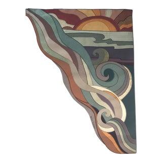 """Vintage Signed Helen Webber """"Sunrise"""" Tapestry Textile Art For Sale"""