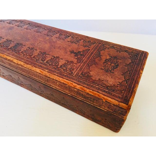 """French Antique Glove Box by """"A La Marquise De Sevigne Paris"""" For Sale - Image 4 of 12"""