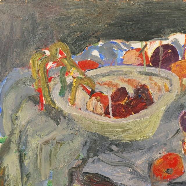 Impressionist 'Still Life With Plums' by Janet Ament De La Roch; Salon D'Automne, Paris, California Woman Artist, Lacma For Sale - Image 3 of 9