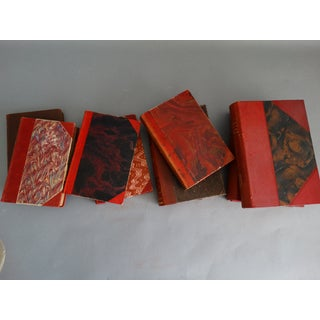 Decorative Leather Books Set of 9 Swedish Marbled Boards Preview