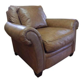 Baker Leather Club Chair