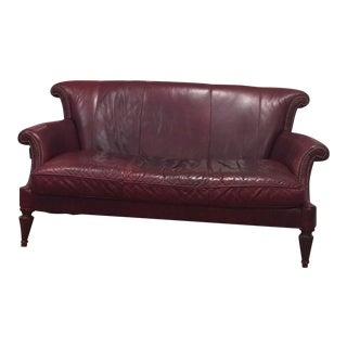 Century Furniture Red Leather Sofa