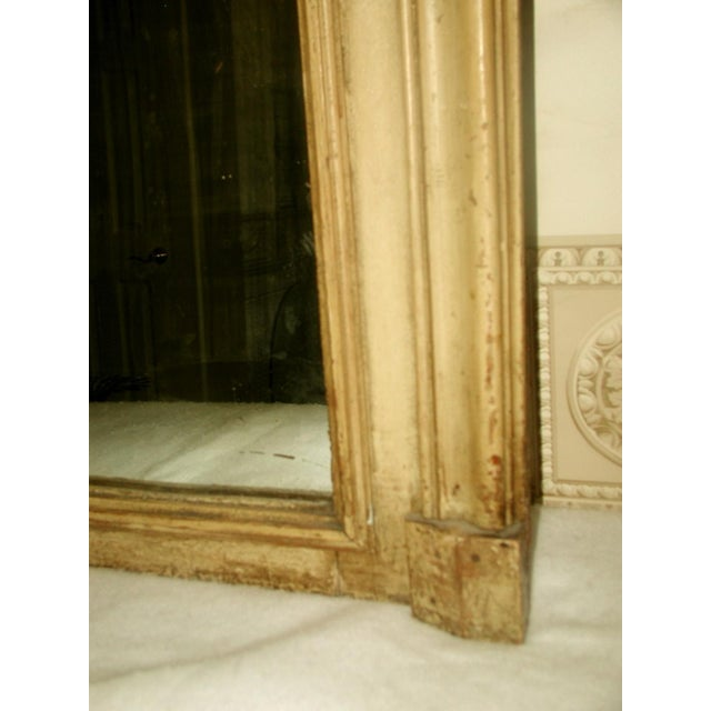 French Trumeau Mirror Canvas Oil Painting, 19th C. - Image 6 of 8
