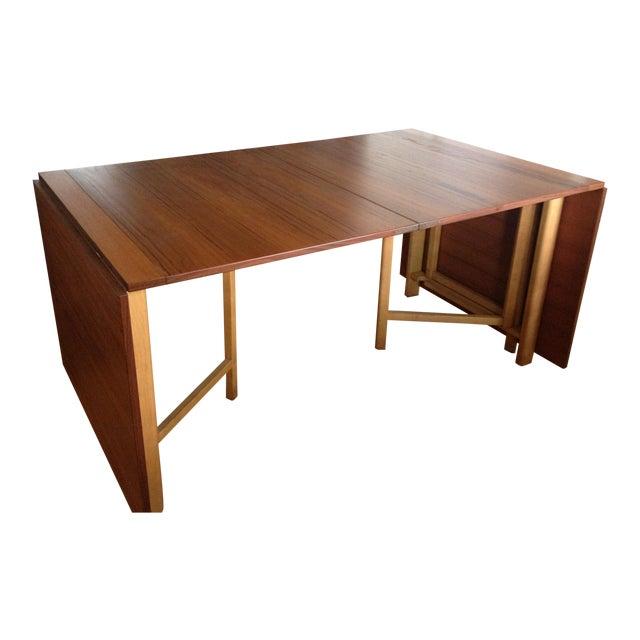 "Teak Expanding ""Maria Flap"" Table - Image 1 of 9"