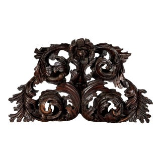 Large Portuguese Carved Oak Architectural Element