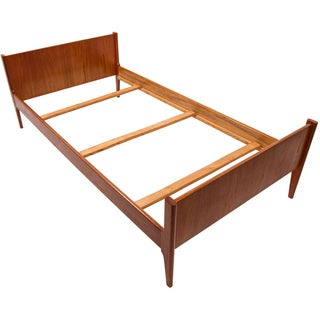 Dyrlund Danish Modern Twin Size Teak Bedframe For Sale