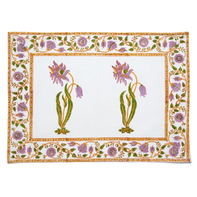 Drawing upon European influences, the Florence design showcases a graceful flower motif in lilac and green, beautifully...