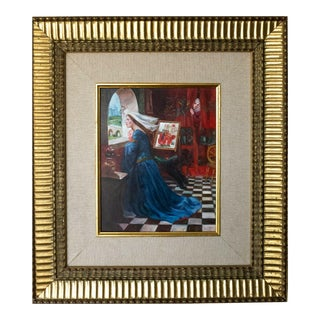 1920s Attributed to Richard E. Miller Pre-Raphaelite Oil Painting on Board For Sale