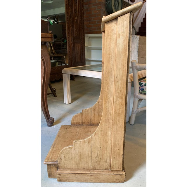 Late 19th Century Rustic Wooden Kneeler From Ireland For Sale - Image 5 of 6