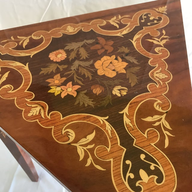 Reuge Italian Music Box Side Table For Sale - Image 4 of 5