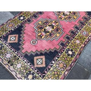 """Vintage Bohemian Wool Pink Rug-3'8x6'8"""" Preview"""