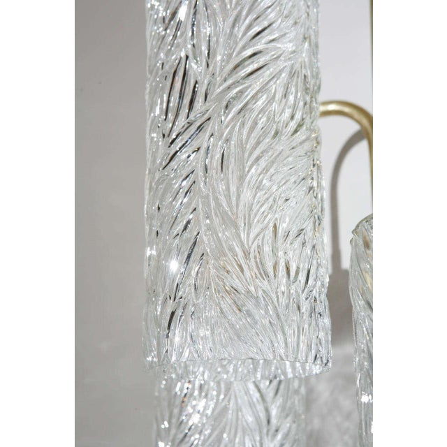 Large Brass Sconces with Vintage German Glass - Image 5 of 6