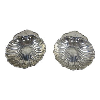 Sterling Silver Shell Shaped Vide-Poche, Catch-all Dishes - A Pair