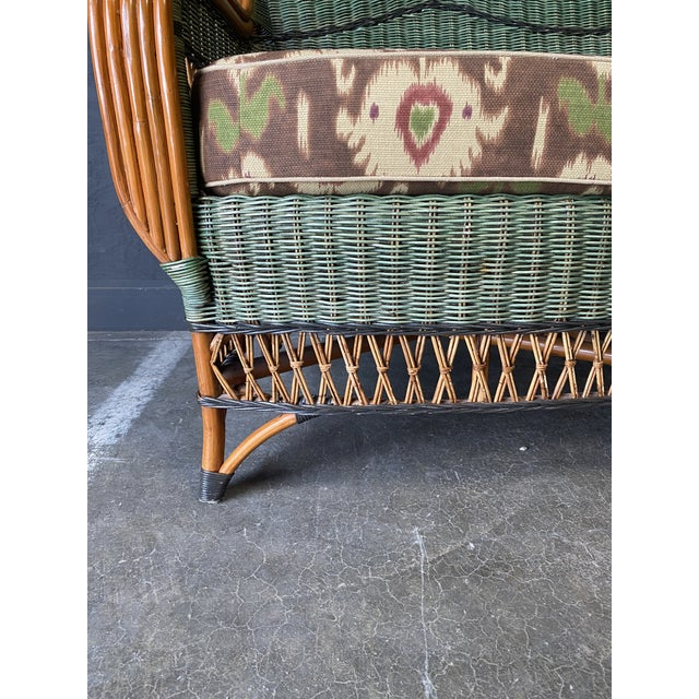 Grange Vintage French Grange Wicker Sofa and Coffee Table For Sale - Image 4 of 13