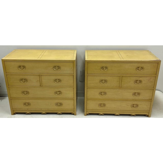 Pair of Asian Modern Michael Taylor for Baker Furniture Chest of Drawers For Sale In Atlanta - Image 6 of 7