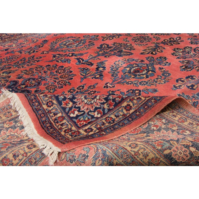 """Vintage Hand-Knotted Sarouk Rug - 8'1"""" X 10'4"""" - Image 3 of 4"""