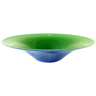 V. Nason & C. , Italy Blue and Green Blown Murano Glass Bowl For Sale