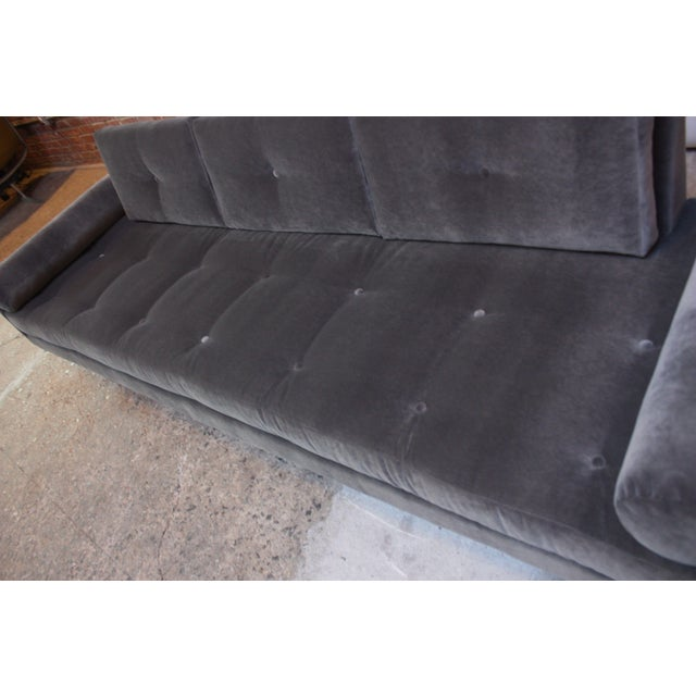 Adrian Pearsall for Craft Associates 'Gondola' Sofa in Walnut and Velvet For Sale - Image 9 of 13