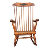 Image of Mid-Century Walnut Classic Rocking Chair For Sale