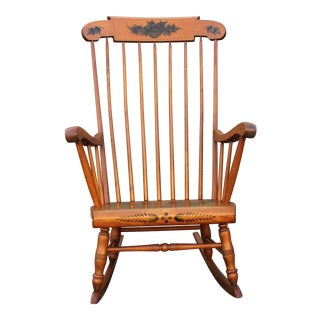 Mid-Century Walnut Classic Rocking Chair For Sale