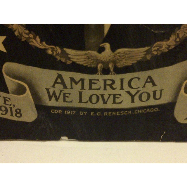 Vintage WWI Presidential Campaign Poster For Sale In Pittsburgh - Image 6 of 8